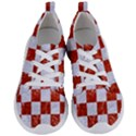 SQUARE1 WHITE MARBLE & RED MARBLE Women s Lightweight Sports Shoes View1