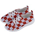 SQUARE1 WHITE MARBLE & RED MARBLE Women s Lightweight Sports Shoes View2