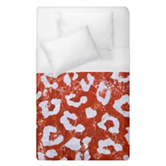 Skin5 White Marble & Red Marble (r) Duvet Cover (single Size) by trendistuff