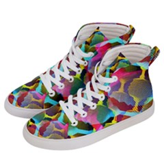 3d Pattern Mix Women s Hi Top Skate Sneakers by Sapixe