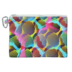 3d Pattern Mix Canvas Cosmetic Bag (xl)