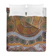 Aboriginal Traditional Pattern Duvet Cover Double Side (full/ Double Size)