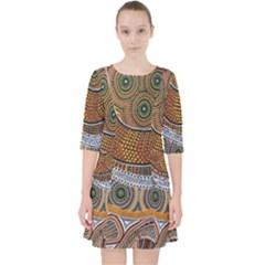 Aboriginal Traditional Pattern Pocket Dress by Sapixe