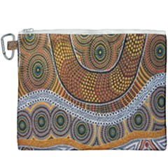 Aboriginal Traditional Pattern Canvas Cosmetic Bag (xxxl) by Sapixe