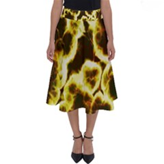 Abstract Pattern Perfect Length Midi Skirt