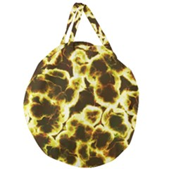 Abstract Pattern Giant Round Zipper Tote
