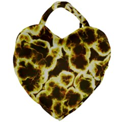 Abstract Pattern Giant Heart Shaped Tote