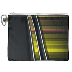 Abstract Multicolor Vectors Flow Lines Graphics Canvas Cosmetic Bag (xxl)