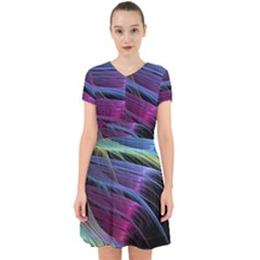 Abstract Satin Adorable In Chiffon Dress
