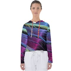 Abstract Satin Women s Slouchy Sweat