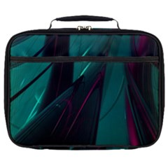 Abstract Green Purple Full Print Lunch Bag
