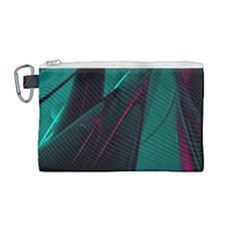 Abstract Green Purple Canvas Cosmetic Bag (medium) by Sapixe