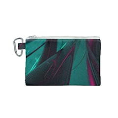 Abstract Green Purple Canvas Cosmetic Bag (small) by Sapixe