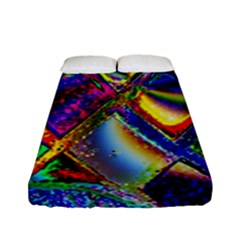 Abstract Digital Art Fitted Sheet (full/ Double Size) by Sapixe