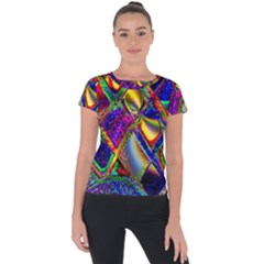 Abstract Digital Art Short Sleeve Sports Top  by Sapixe