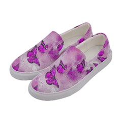 Adorable Butterflies, Pink Women s Canvas Slip Ons by MoreColorsinLife