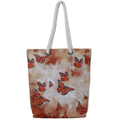 Adorable Butterflies, Terra Full Print Rope Handle Tote (small) by MoreColorsinLife