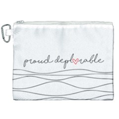 Proud Deplorable Maga Women For Trump With Heart And Handwritten Text Canvas Cosmetic Bag (xxl) by MAGA