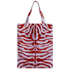Skin2 White Marble & Red Marble (r) Zipper Classic Tote Bag by trendistuff
