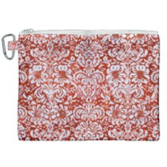 Damask2 White Marble & Red Marble Canvas Cosmetic Bag (xxl) by trendistuff