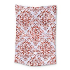 Damask1 White Marble & Red Marble (r) Small Tapestry by trendistuff