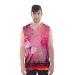Wonderful Butterflies With Dragonfly Men s Basketball Tank Top by FantasyWorld7