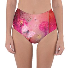 Wonderful Butterflies With Dragonfly Reversible High-waist Bikini Bottoms by FantasyWorld7