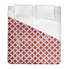 Circles3 White Marble & Red Marble Duvet Cover (full/ Double Size) by trendistuff
