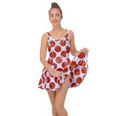 Circles2 White Marble & Red Marble (r) Inside Out Dress