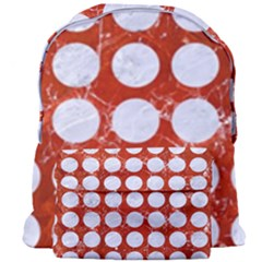 Circles1 White Marble & Red Marble Giant Full Print Backpack by trendistuff