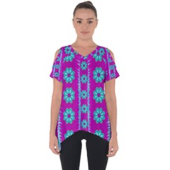 Fern Decorative In Some Mandala Fantasy Flower Style Cut Out Side Drop Tee