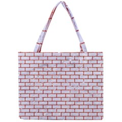 Brick1 White Marble & Red Marble (r) Mini Tote Bag by trendistuff