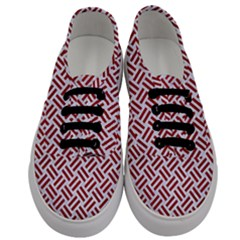 Woven2 White Marble & Red Leather (r) Men s Classic Low Top Sneakers