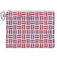 Woven1 White Marble & Red Leather (r) Canvas Cosmetic Bag (xxl) by trendistuff