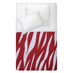 Skin3 White Marble & Red Leather Duvet Cover (single Size) by trendistuff