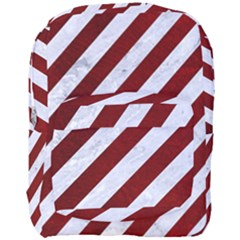 Stripes3 White Marble & Red Grunge (r) Full Print Backpack