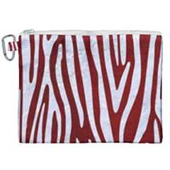 Skin4 White Marble & Red Grunge (r) Canvas Cosmetic Bag (xxl) by trendistuff