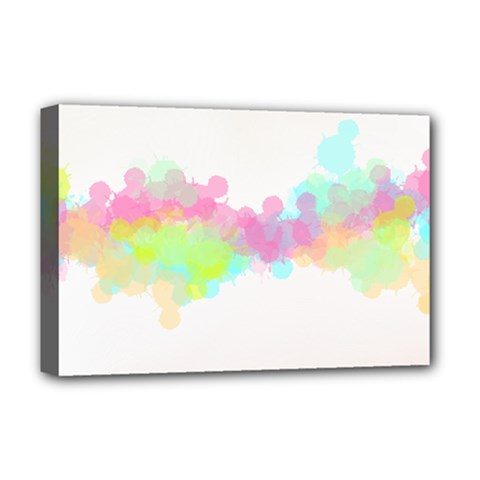 Abstract Color Pattern Colorful Deluxe Canvas 18  X 12