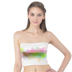 Abstract Color Pattern Colorful Tube Top