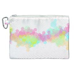 Abstract Color Pattern Colorful Canvas Cosmetic Bag (xl) by Sapixe
