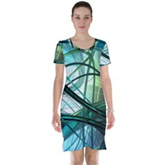 Abstract Short Sleeve Nightdress