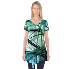 Abstract Short Sleeve Tunic