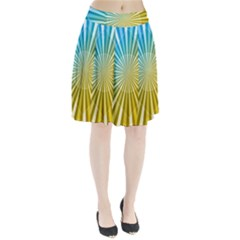 Abstract Art Art Radiation Pleated Skirt