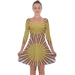Abstract Art Art Modern Abstract Quarter Sleeve Skater Dress