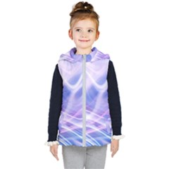 Abstract Graphic Design Background Kid s Hooded Puffer Vest