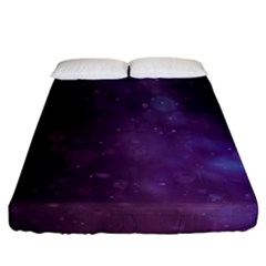 Abstract Purple Pattern Background Fitted Sheet (california King Size) by Sapixe