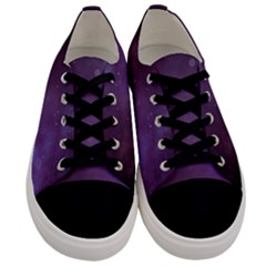 Abstract Purple Pattern Background Men s Low Top Canvas Sneakers