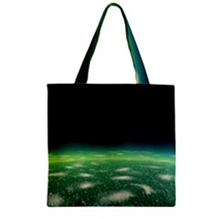 Alien Orbit Zipper Grocery Tote Bag