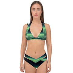 Alien Orbit Double Strap Halter Bikini Set