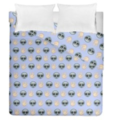 Alien Pattern Duvet Cover Double Side (queen Size) by Sapixe